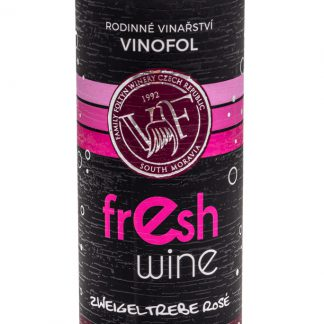 Zweigeltrebe - musujące - różowe wino w puszce